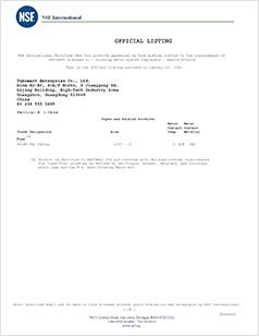 NSF International Certifies