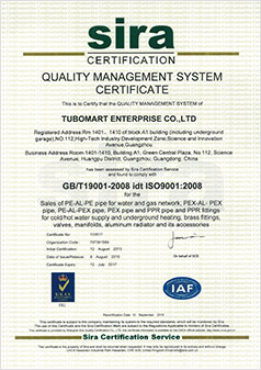 Gas Pipes ISO Certification