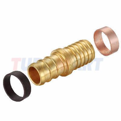 Pex Crimp Fitting With Copper Ring