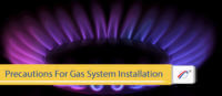 gas system installation