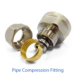 Pipe compression fitting