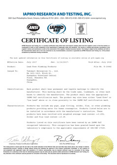 Push-Fit-Fittings-Lead-Free-Plumbing-Products-Certificate
